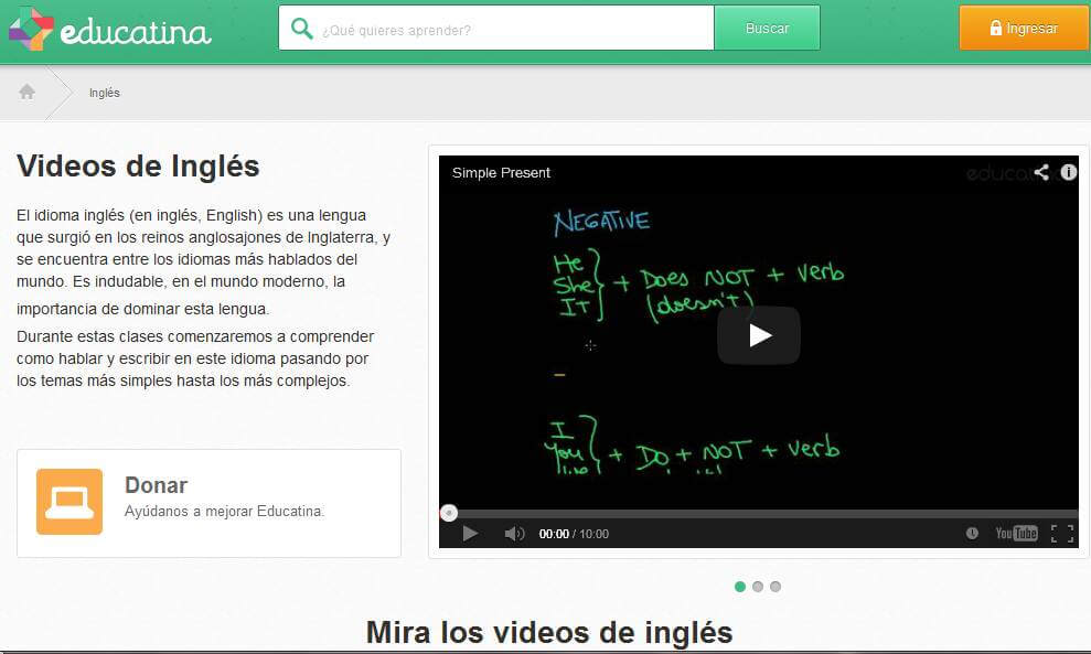video cursos educatina