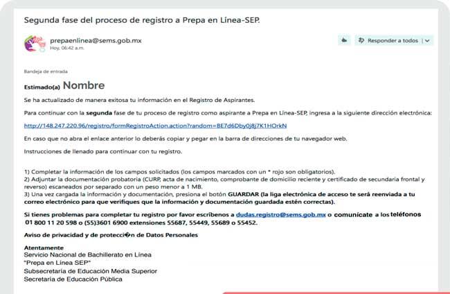 Activar cuenta Prepa en línea SEP