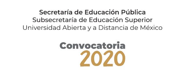 Convocatoria UnADM 2020